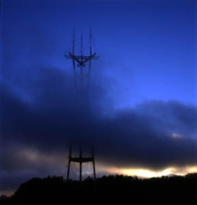 The Fog Rolls In - Sutro Tower