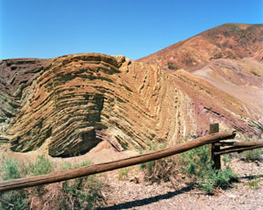 Chevron Folds at Calico Ghost Town