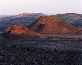 Spatter Cones at Sunset