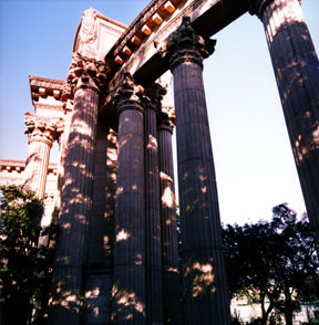 Eclipse in Tree Shadows - Palace of Fine Arts