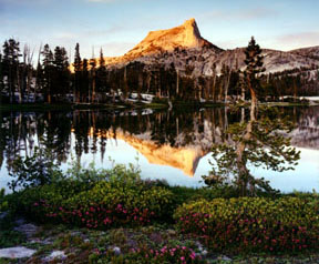 Cathedral Peak and Cathedral Lake
