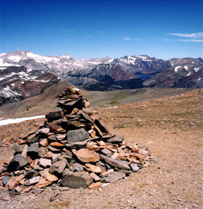 Rock Cairn on the Shoulder