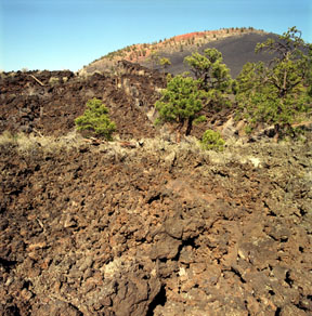 Sunset Crater and Aa Lava