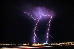 Lightning over Sam Boyd Stadium, Las Vegas
