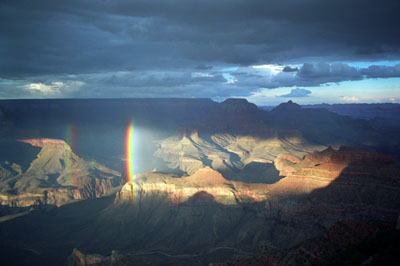 Double Rainbow in the Canyon