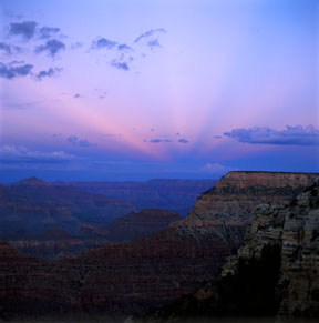 Anticrepuscular Rays, Grand Canyon