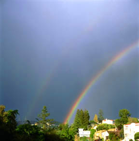 Double Rainbow over the Oakland Hills