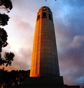 Coit Tower Stormy Sunset