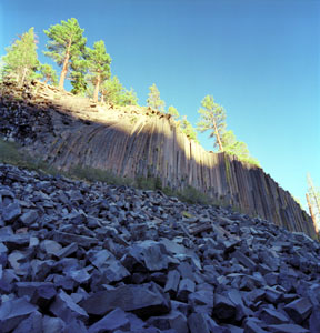 Last Light on Devils Postpile
