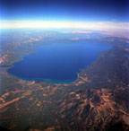 Lake Tahoe from 30,000 Feet