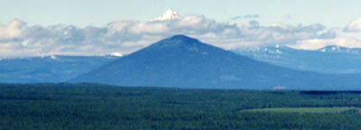 Close-Up of the Peak of Mount Jefferson