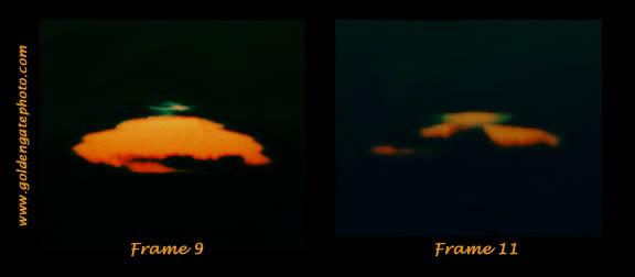 Mount Diablo Sunset, Frames 9 and 11